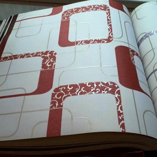 کاغذ دیواری قرمز مدرن