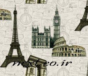 کاغذ دیواری طرح شهر مدرن - برج ایفل