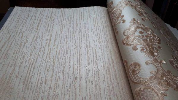کاغذ دیواری ساده طلایی بافت دار برجسته
