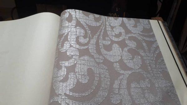 کاغذ دیواری طوسی شاین