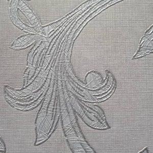 کاغذ دیواری گل دار شاین طوسی روشن