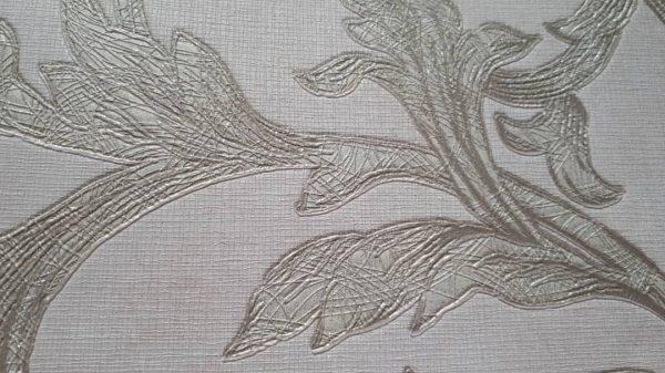 کاغذ دیواری گل دار طلایی