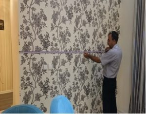 مراحل نصب کاغذ دیواری
