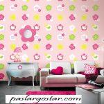 کاغذ دیواری کودک دخترانه