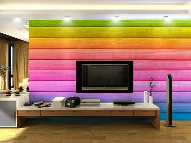 کاغذ دیواری رنگ شاد