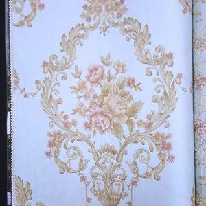 کاغذ دیواریی گل دار پذیرایی
