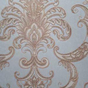 کاغذ دیواری داماسک آبی روشن