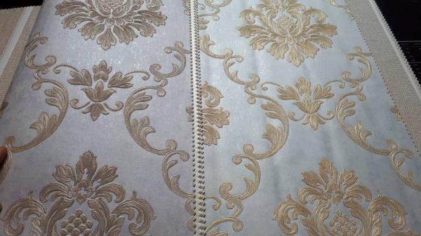 کاغذ دیواری گل دار داماسک