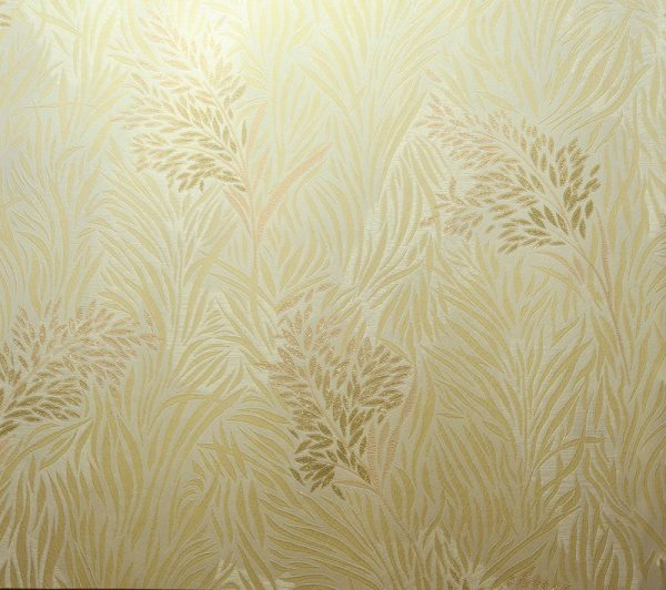 کاغذ دیواری طلایی گل دار