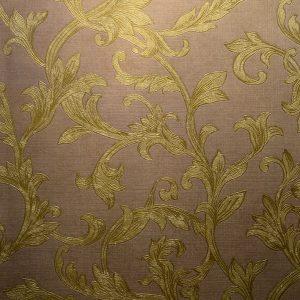 کاغذ دیواری قهوه ای گل دار شاینی