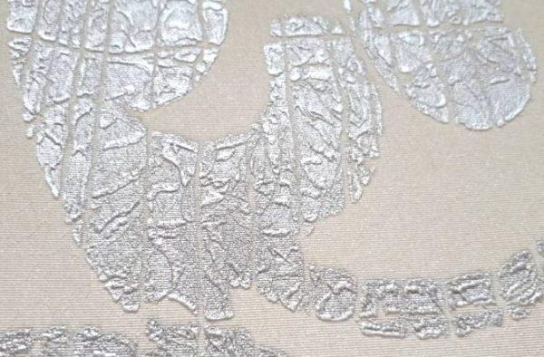 کاغذ دیواری گل دار سفید