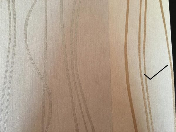 کاغذ دیواری کرم طلایی