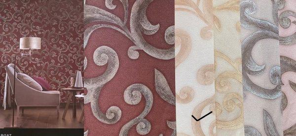 کاغذ دیواری گل دار سه بعدی
