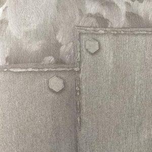 کاغذ دیواری نقره ای طوسی مدرن