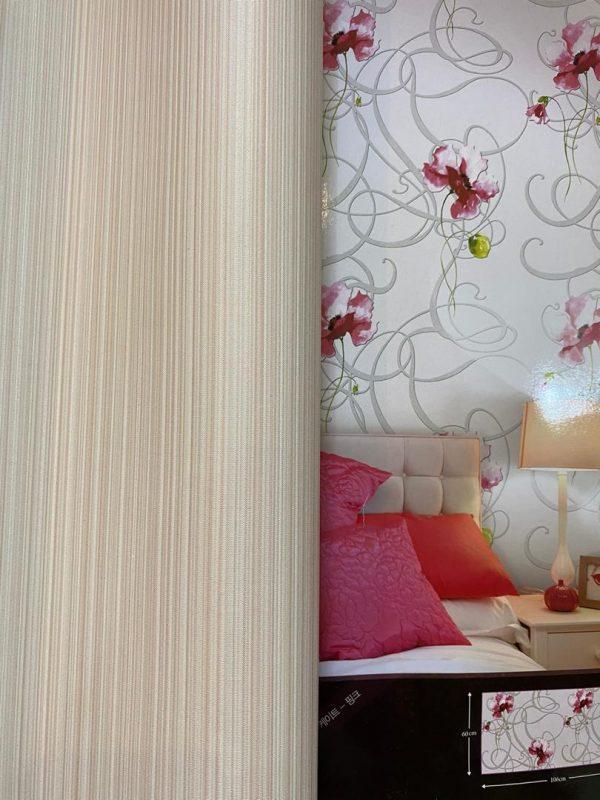 کاغذ دیواری صورتی و طلایی ساده