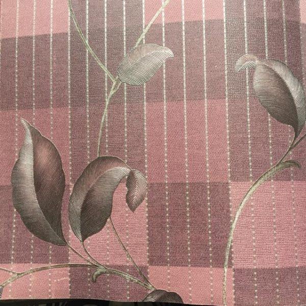 کاغذ دیواری گل دار بنفش