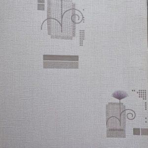 کاغذ دیواری گل دار یاسی
