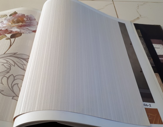 کاغذ دیواری ساده سفید بافت دار 9805-1.