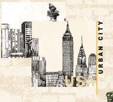 کاغذ دیواری طرح شهر مدرن