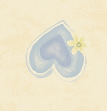 کاغذ دیواری گل و قلب