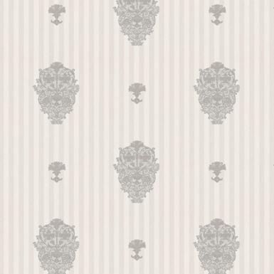 کاغذ دیواری سفید طوسی