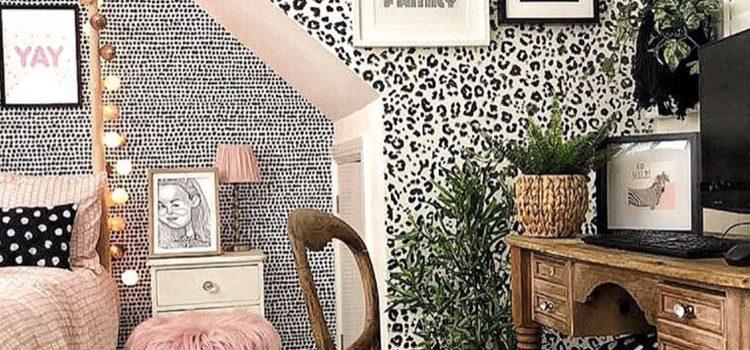 کاغذ دیواری اتاق دخترانه نوجوان