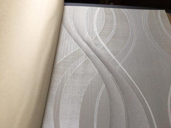 کاغذ دیواری نقره ای طوسی